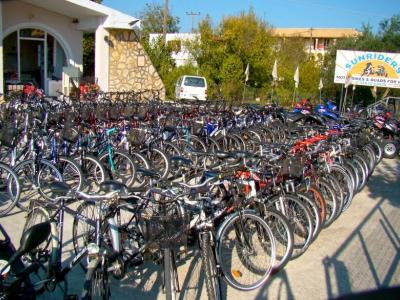 Sunriders Bike Hire - Rent/Hire Motorbikes, Scooters, Buggies, Quad Bikes, Bicycles in Roda, Corfu - HireCorfu.com